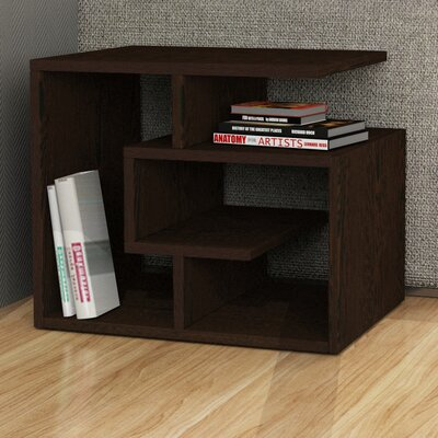 Labirent End Table Finish: Dark Brown