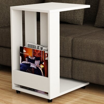Thelma End Table Color: White