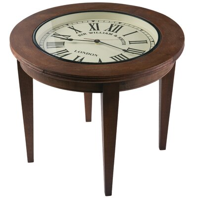 Highwoods Wood Clock End Table