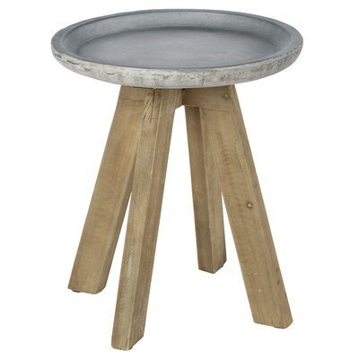 Acosta Contemporary Concrete Top End Table