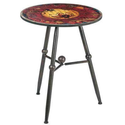 Bearse Round Decorative Tiled Top End Table