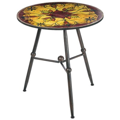 Bearse Floral Decorative Tiled Top End Table