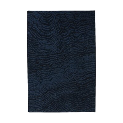 Industrial Landscape Blue/Black/Gray Area Rug Rug Size: Rectangle 47 x 67