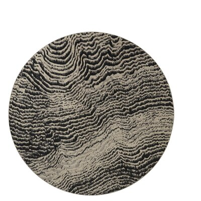 Industrial Landscape Gray/Beige Area Rug Rug Size: Round 8