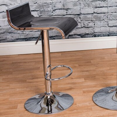 Adjustable Height Swivel Bar Stool Finish: Black