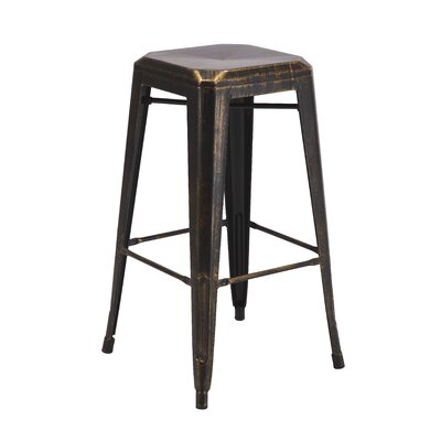 Backless Metal 30 Bar Stool Color: Gold
