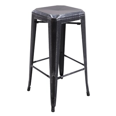 Backless Metal 30 Bar Stool Color: Silver