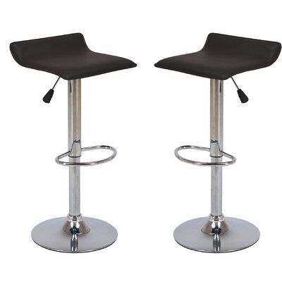 Adjustable Height Swivel Bar Stool Color: Black