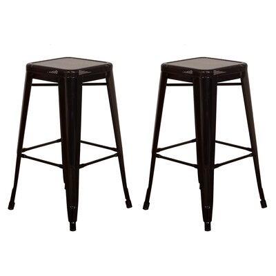 30 Bar Stool Color: Black