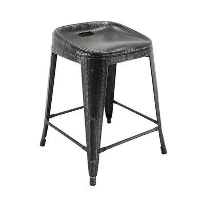 Sirena Bar Stool Color: Antique Black/Silver