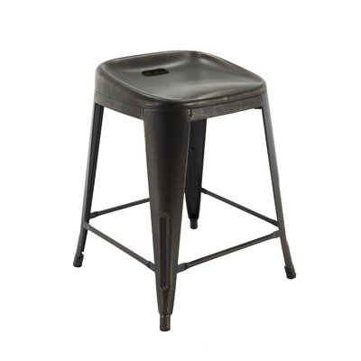 Sirena Bar Stool Color: Antique Black/Gold