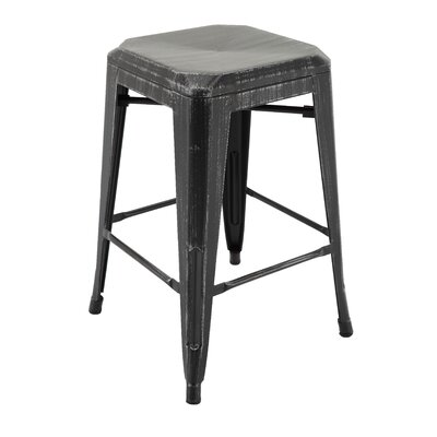 Sachiko Bar Stool Color: Antique Black/Silver