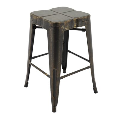 Samatha Bar Stool Color: Antique Black/Gold