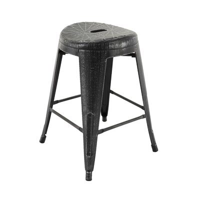 Samella Bar Stool Color: Antique Black/Silver