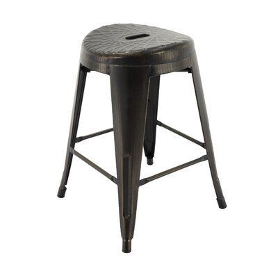 Samella Bar Stool Color: Antique Black/Gold