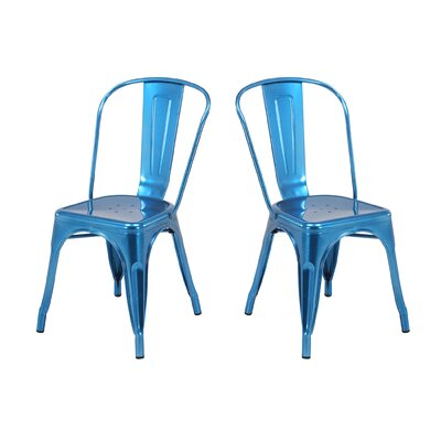 Metal Dining Chair Color: Sapphire