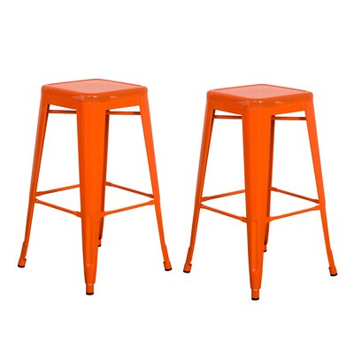 30 Bar Stool Color: Orange