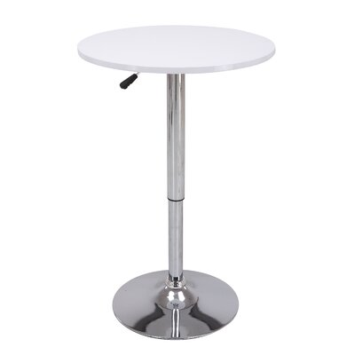 Height Adjustable Pub Table Color: White