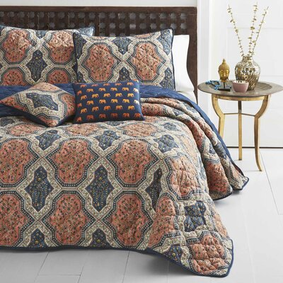 Evony Reversible Duvet Cover Set Size: Full/Queen