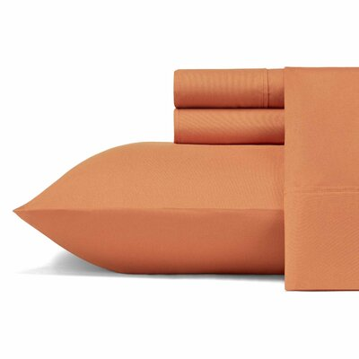 Carterton Microfiber Sheet Set Size: Full, Color: Orange