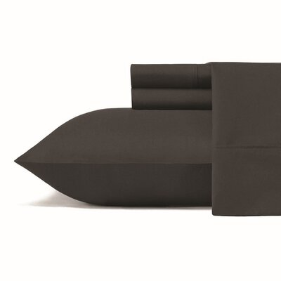 Carterton Microfiber Sheet Set Size: Full, Color: Black