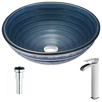 Tempo Deco-Glass Circular Vessel Bathroom Sink Faucet Finish: Polished Chrome