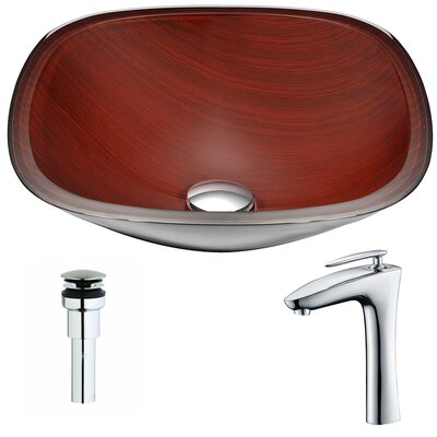 Cansa Deco-Glass Square Vessel Bathroom Sink