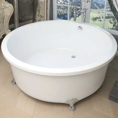 Cantor 59.06 x 59.06 Freestanding Soaking Bathtub