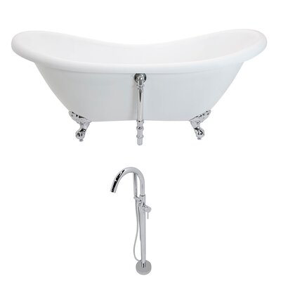 Aegis 68.75 x 28.75 Freestanding Soaking Bathtub
