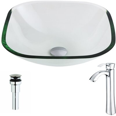 Cadenza Square Vessel Bathroom Sink Faucet Finish: Chrome