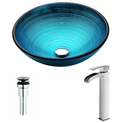 Enti Circular Vessel bathroom Sink Faucet Finish: Brushed Nickel