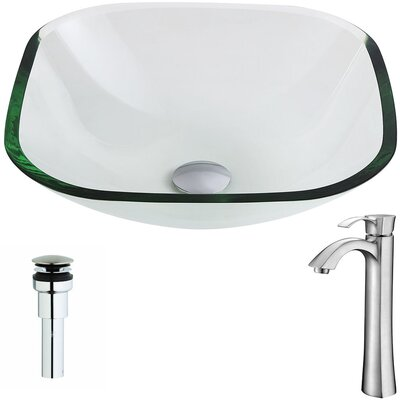 Cadenza Square Vessel Bathroom Sink Faucet Finish: Brushed Nickel