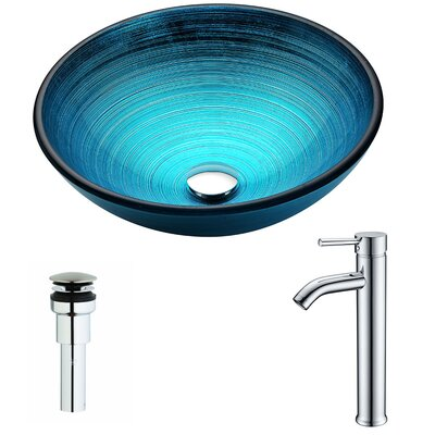Enti Circular Vessel bathroom Sink Faucet Finish: Chrome