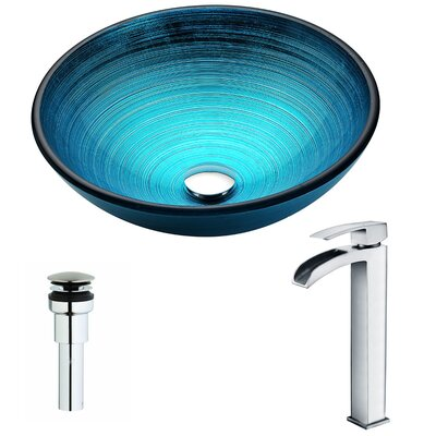 Enti Circular Vessel bathroom Sink Faucet Finish: Polished Chrome