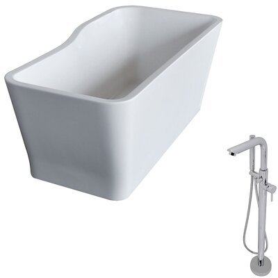 Salva 68.8 x 31.4 Freestanding Soaking Bathtub