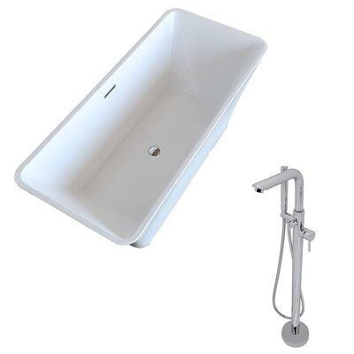 Arden 66.5 x 29.4 Freestanding Soaking Bathtub