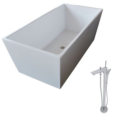 Fjord 66.8 x 31.5 Freestanding Soaking Bathtub