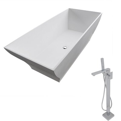 Crema 70.8 x 31.5 Freestanding Soaking Bathtub