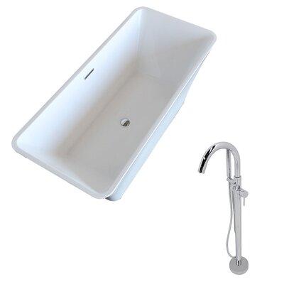 Arden 66.5 x 29.4 Freestanding Soaking Bathtub
