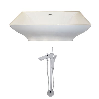Vision 70.4 x 31.6 Freestanding Soaking Bathtub