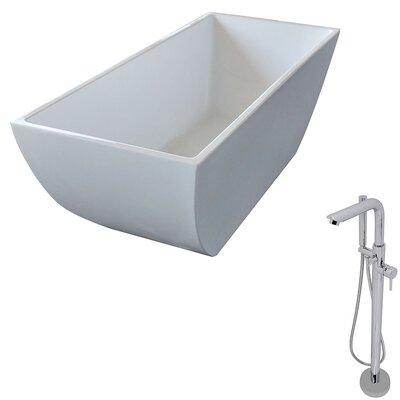 Rook 66.75 x 29.4 Freestanding Soaking Bathtub