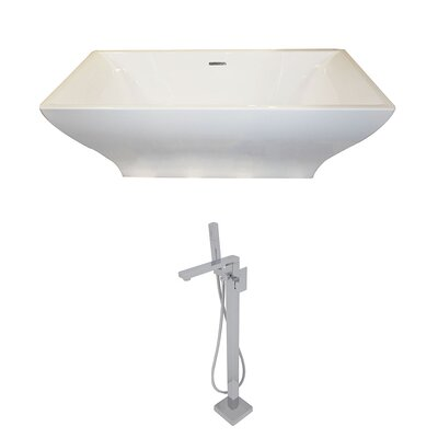 Vision 70.4 x 31.6 Freestanding Soaking Bathtub
