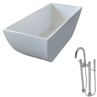 Rook 66.75 x 29.4 Freestanding Soaking Bathtub