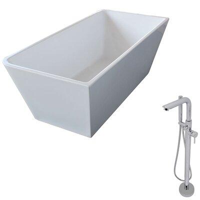 Majanel 67 x 31.4 Freestanding Soaking Bathtub