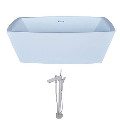 Arthur 67 x 31.5 Freestanding Soaking Bathtub