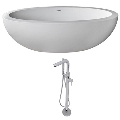 Lusso 75.5 x 40.5 Freestanding Soaking Bathtub