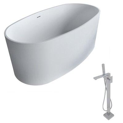 Roccia 61.4 x 31.2 Freestanding Soaking Bathtub