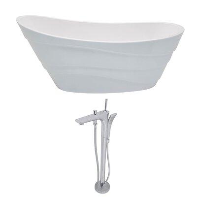 Stratus 67 x 29.5 Freestanding Soaking Bathtub