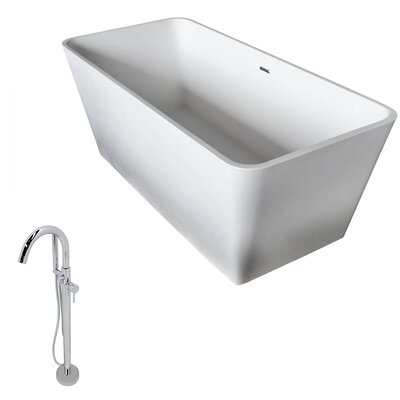 Cenere 58.25 x 26.4 Soaking Bathtub