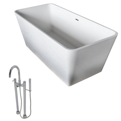 Cenere 58.25 x 26.4 Freestanding Soaking Bathtub